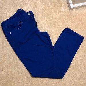 Size 16 regular royal blue skinny AE jeans